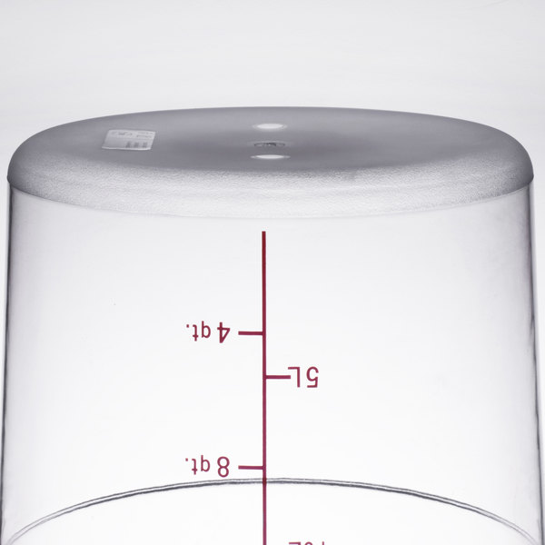 18 Qt Clear Round Food Storage Container