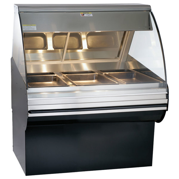 """Alto-Shaam HN2SYS-48 BK Black Heated Display Case with Curved Glass and Base- Full Service 48"""""""
