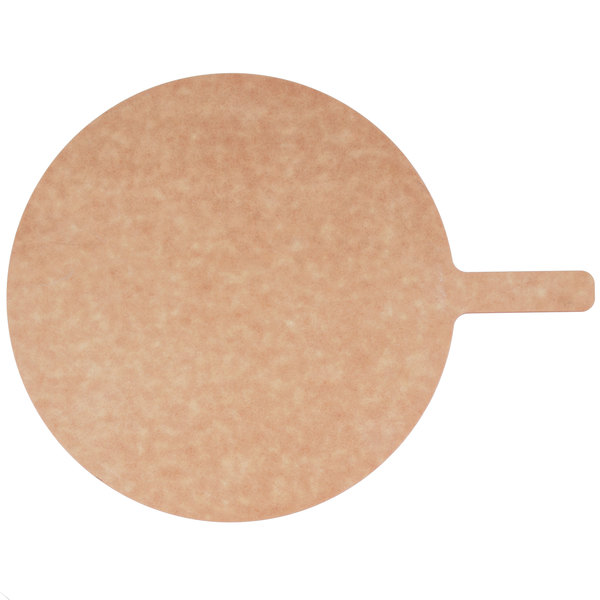 """American Metalcraft MP813 8"""" Round Pressed Natural Pizza Peel with 5"""" Handle"""