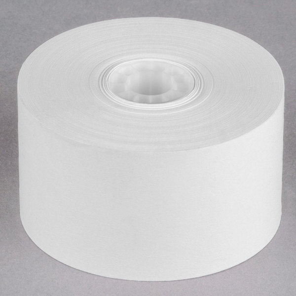 """38 mm (1 1/2"""") x 165' Traditional Cash Register POS Paper Roll Tape - 100/Case"""
