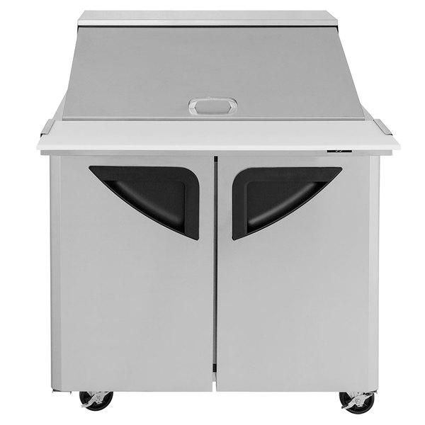 "Turbo Air TST-36SD-15 36"" 2 Door Mega Top Refrigerated Sandwich Prep Table"