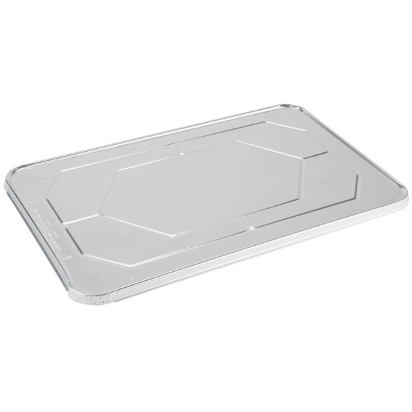 Choice Full Size Foil Steam Table Pan Lid - 10/Pack