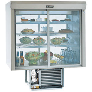 Delfield F5MC48DV 48 inch Drop-In Refrigerated Display Case with Mirrored Back