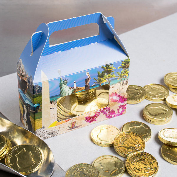 """1-Piece 1/2 lb. Landscape Window Candy Box 5 3/8"""" x 2"""" x 3 1/2"""" - 250/Case Main Image 5"""