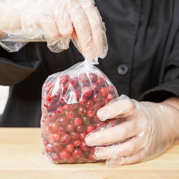 """Elkay Plastics 20G-042008 Plastic Food Bag 4"""" x 2"""" x 8"""" Extra Heavy - 1000/Box"""