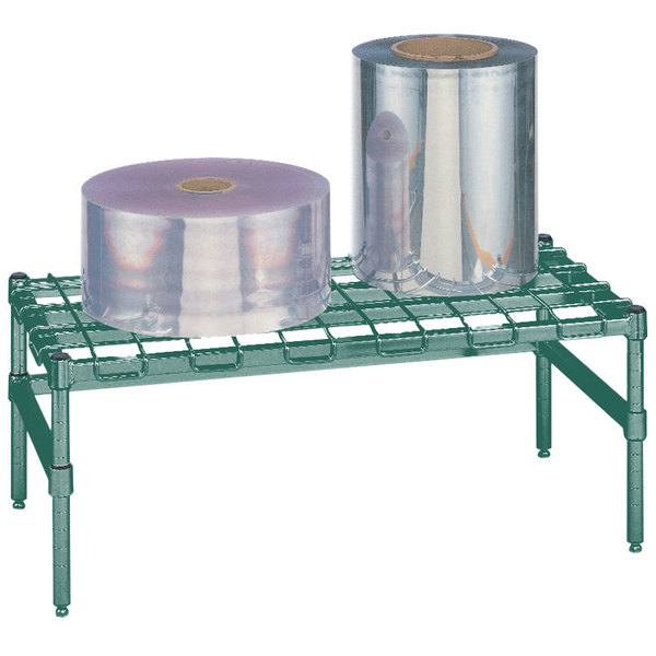 "Metro HP51K3 24"" x 24"" x 14 1/2"" Heavy Duty Metroseal 3 Dunnage Rack with Wire Mat - 1600 lb. Capacity Main Image 1"
