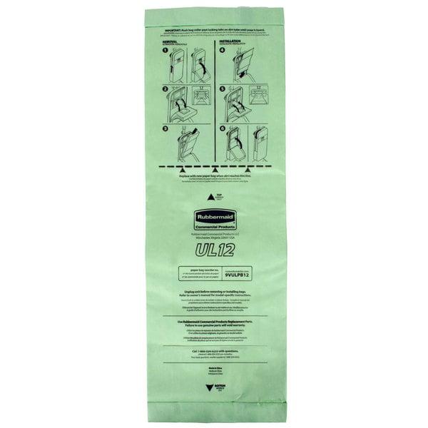 5d16f6a8a6bd Rubbermaid FG9VULPB12 10.62 qt. Paper Vacuum Bag - 10 Pack