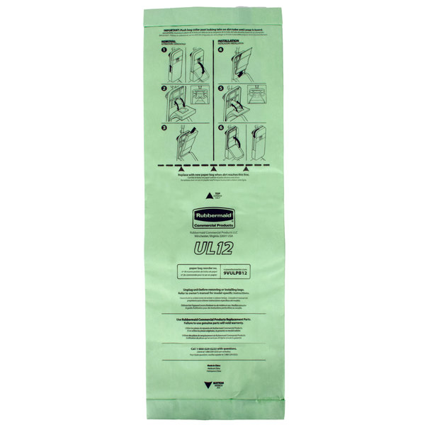 Rubbermaid FG9VULPB12 10.62 qt. Paper Vacuum Bag - 10/Pack