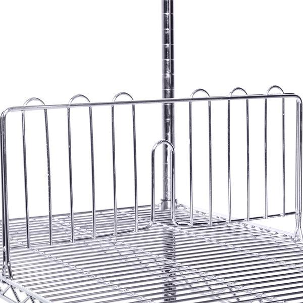 "Metro DD24C Equivalent 24"" Chrome Wire Shelf Divider Main Image 3"