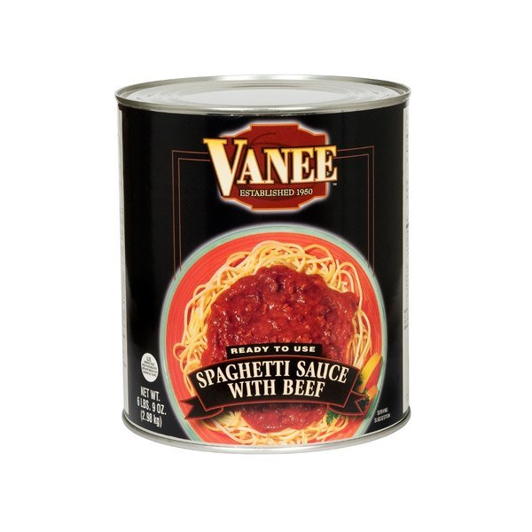 Vanee 590VH #10 Can Spaghetti Sauce with Beef - 6/Case
