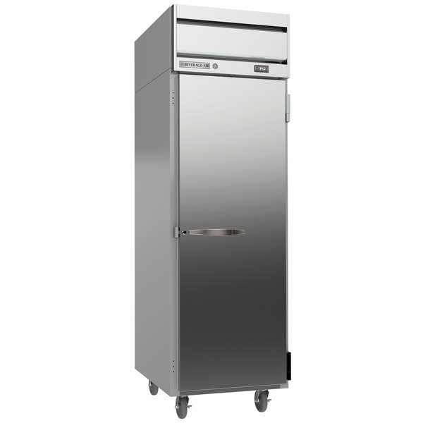 "Beverage-Air HRS1-1S Horizon Series 26"" Solid Door Reach-In Refrigerator with Stainless Steel Front and Interior Main Image 1"