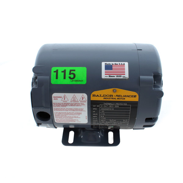 Ultrafryer Systems 17A018 Motor Main Image 1