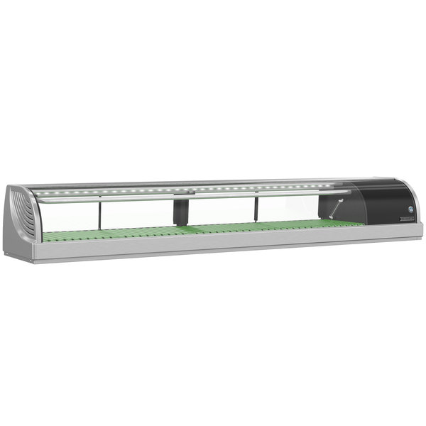 "Hoshizaki HNC-180BA-R-SL Curved Glass Refrigerated Sushi Display Case 71"" - Right Side Compressor"