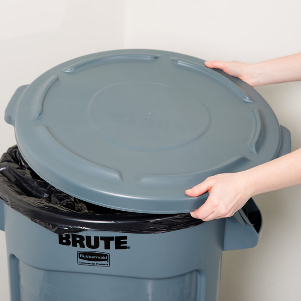 83d1bff9e92 Rubbermaid FG263100GRAY BRUTE 32 Gallon Gray Trash Can Lid. Image Preview  ...