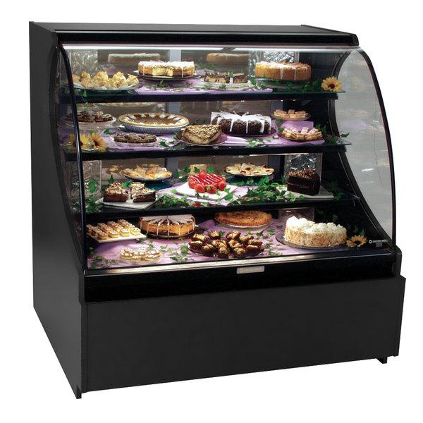 "Structural Concepts Encore HV48R Refrigerated Merchandiser / Deli Case 50"" - Full Service Black 120V - 19.14 Cu. Ft. Main Image 1"