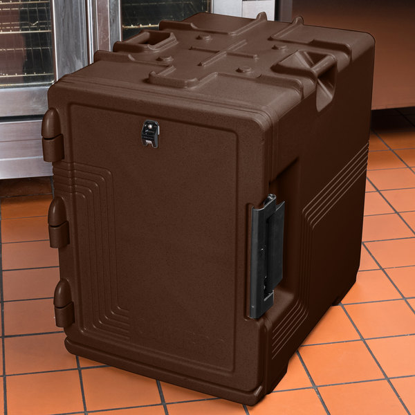 Cambro UPCS400131 Ultra Pan Carrier S-Series Dark Brown Front Loading Insulated Food Pan Carrier