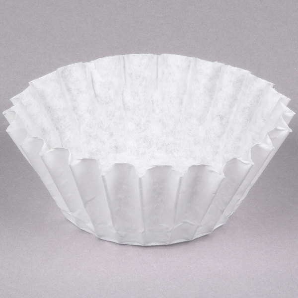 "Bunn 20122.0000 9 3/4"" x 4 1/4"" 12 Cup Narrow Fast Flow Decanter Style Coffee Filter - 1000/Case Main Image 1"
