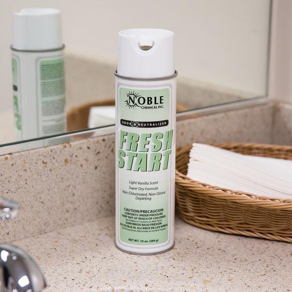 Noble Chemical Fresh Start Air Freshener / Odor Neutralizer - Aerosol 10 oz. (AMR A207) Main Image 3