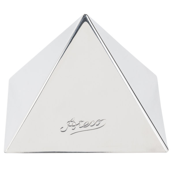 "Ateco 4935 2 1/4"" x 1 1/2"" Stainless Steel Small Pyramid Mold Main Image 1"