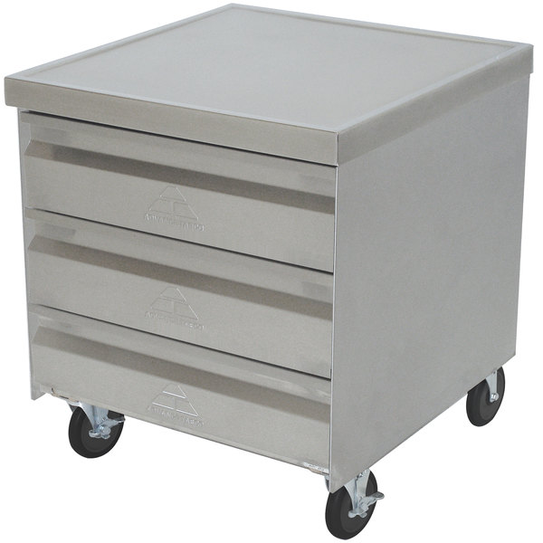 Advance Tabco MDC-2020 Mobile Drawer Cabinet - 3 Drawers Main Image 1