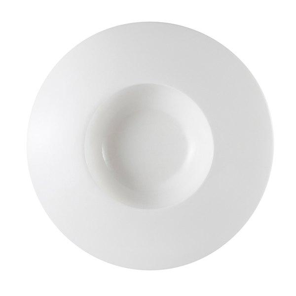 CAC PS-109 Paris French Elite 7 oz. Bright White Porcelain Champagne Wide Draping Rim Bowl - 24/Case Main Image 1