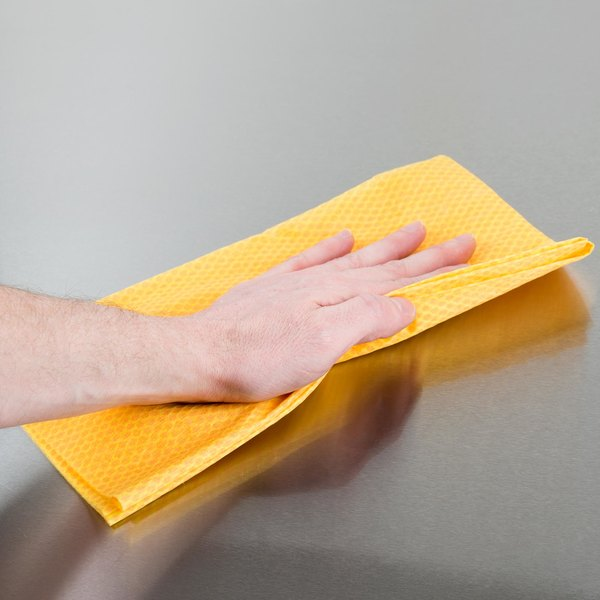 "Chicopee 0416 Stretch'n Dust 24"" x 24"" Orange Medium-Duty Dusting Wiper - 100/Case"