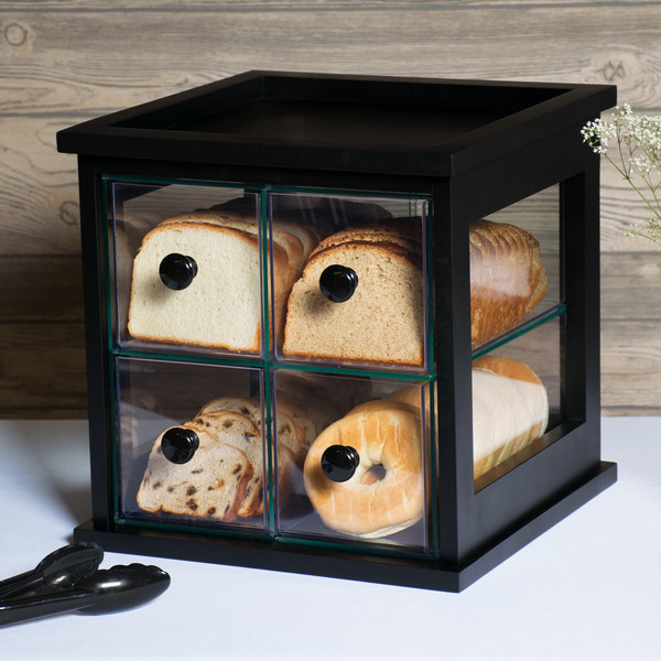 """Cal-Mil 813-96 Midnight Bamboo Four Drawer Bread Box - 15"""" x 14 1/2"""" x 15"""" Main Image 6"""