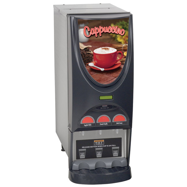 Bunn 36900.0001 iMIX-3 SST Powdered Cappuccino Dispenser with 3 Hoppers - 120V Main Image 1