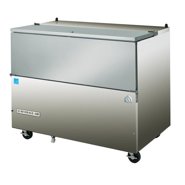 """Beverage-Air SM58N-S 58 1/2"""" Stainless Steel 1-Sided Cold Wall Milk Cooler"""