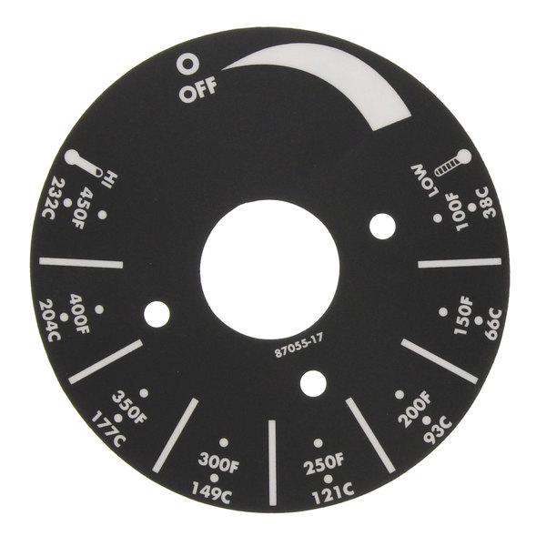 APW Wyott 8705517 Dial Plate