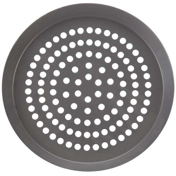 "American Metalcraft CAR6SPHC 6"" Super Perforated Hard Coat Anodized Aluminum CAR Pizza Pan"