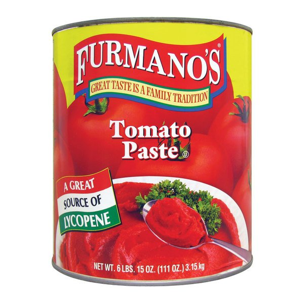 Furmano's #10 Can Tomato Paste - 6/Case