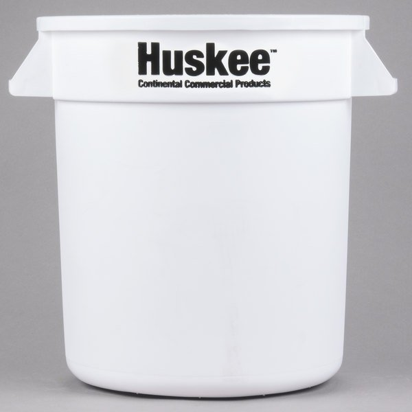 Continental 1001WH Huskee 10 Gallon White Trash Can