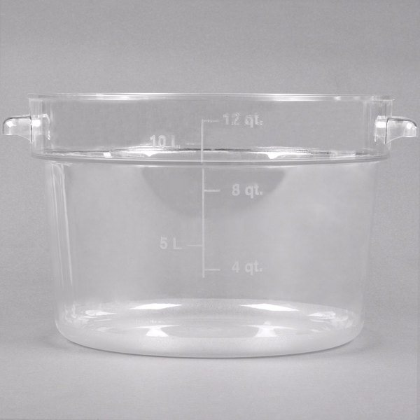Carlisle 1076707 12 Qt. Clear Round StorPlus Container