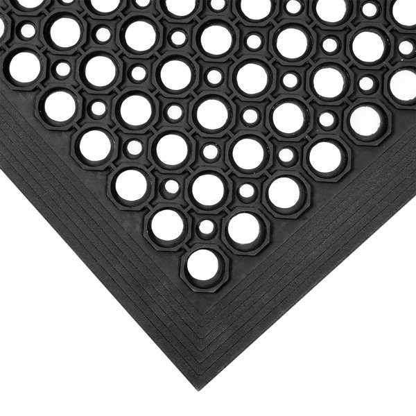 Notrax 755 100 T30 Competitor 3 X 5 Black Anti Fatigue Rubber Floor Mat With Bevel Edge 1 2 Thick