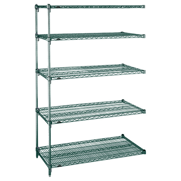 "Metro 5AA417K3 Stationary Super Erecta Adjustable 2 Series Metroseal 3 Wire Shelving Add On Unit - 21"" x 24"" x 74"""