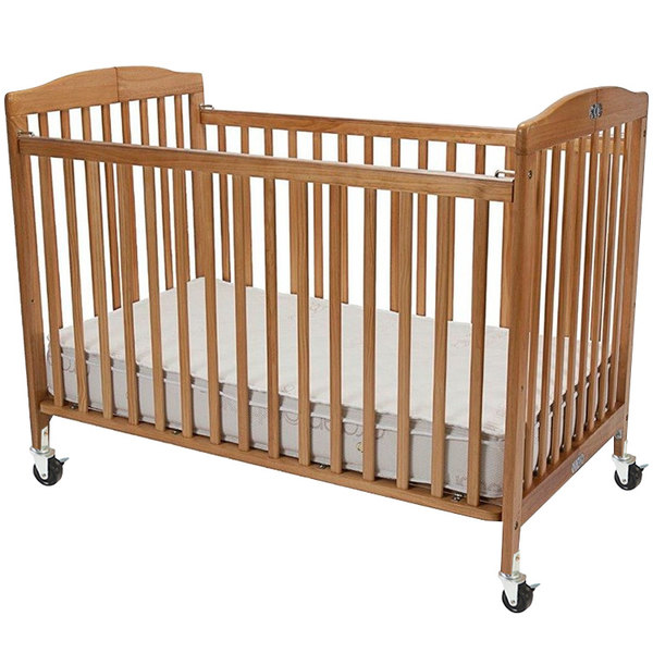 wood foldable l n a x natural folding cribs crib cs baby