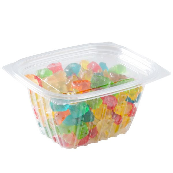 Dart C16DCPRW ClearPac 16 oz. Clear Rectangular Plastic Container with Lid - 252/Case