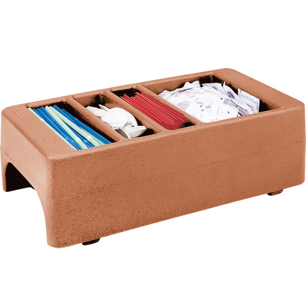 Cambro LCDCH157 Coffee Beige Condiment Holder for Cambro 250LCD / 500LCD / UC250 / UC500 Main Image 1