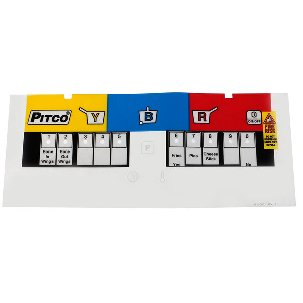 Pitco A6100801 Label, Overlay Wingstreet Sg Main Image 1
