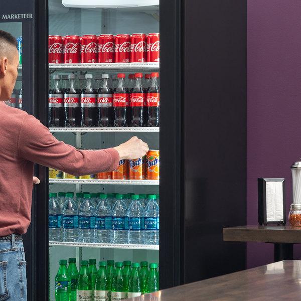 "Beverage-Air LV45HC-1-B LumaVue 52"" Black Refrigerated Glass Door Merchandiser with LED Lighting Main Image 6"