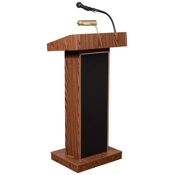 Oklahoma Sound 800X-MO Medium Oak Finish Orator Lectern with Sound Main Image 1