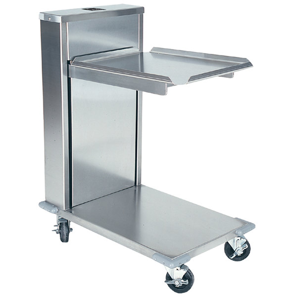 """Delfield CT-1221 Mobile Cantilevered Tray Dispenser for 12"""" x 21"""" Food Trays Main Image 1"""