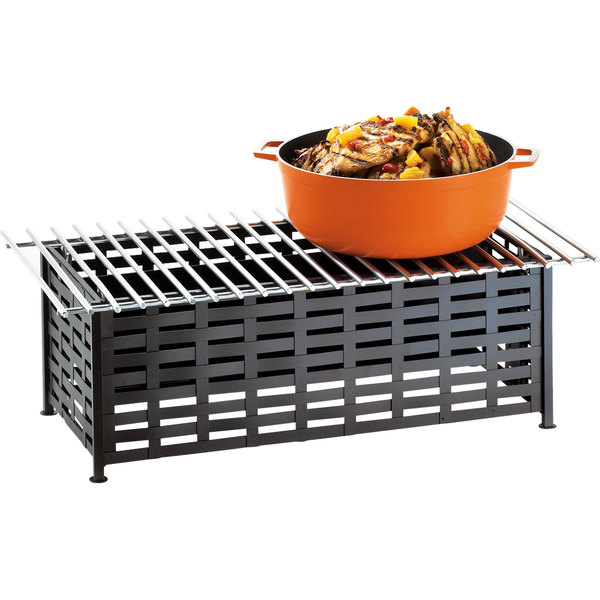 "Cal-Mil 1361-22 Iron Black Chafer Alternative - 22"" x 12"" x 7 1/2"""