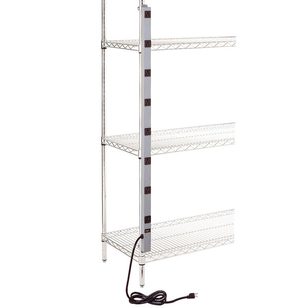"""Metro CPS48 48"""" Power Strip for Super Erecta and QwikSlot Posts"""