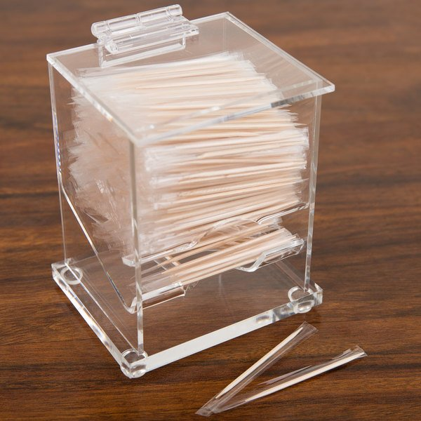 "Cal-Mil 304 Classic Wrapped Toothpick Dispenser - 4 1/4"" x 3 1/2"""