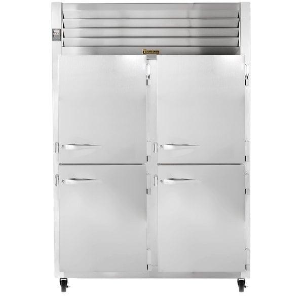 Traulsen G20002 2 Section Half Door Reach In Refrigerator - Right / Right Hinged Doors Main Image 1
