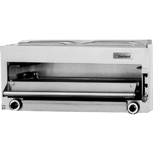 "Garland MIR-34C Master Series Natural Gas 34"" Countertop Infra-Red Salamander - 40,000 BTU"