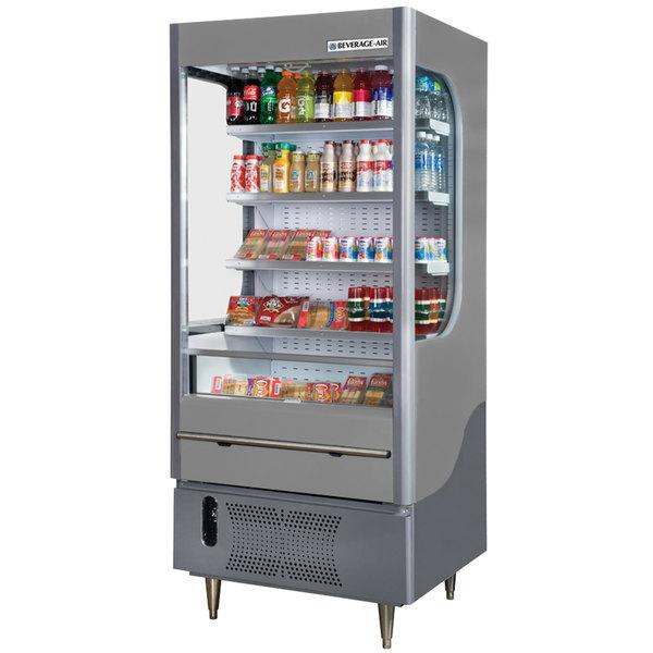 """Beverage-Air VM12-1-G VueMax 35"""" Gray Air Curtain Merchandiser Main Image 1"""