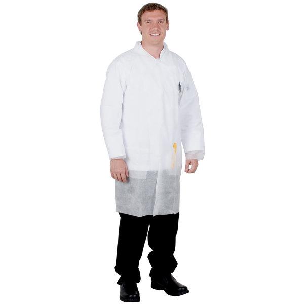 White Disposable Polypropylene Lab Coat - XL